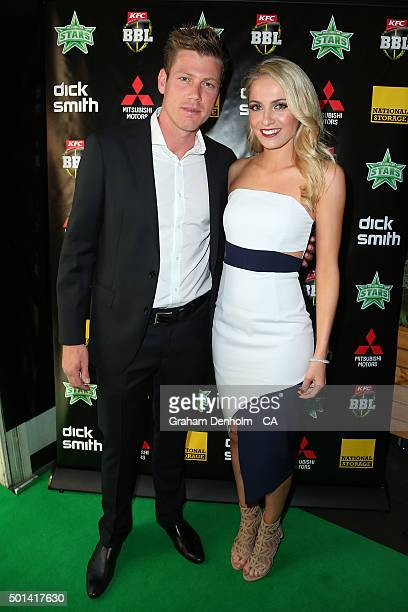James Faulkner arrives for the Melbourne Stars Big Bash League season launch at The Emerson on December 15 2015 in Melbourne Australia