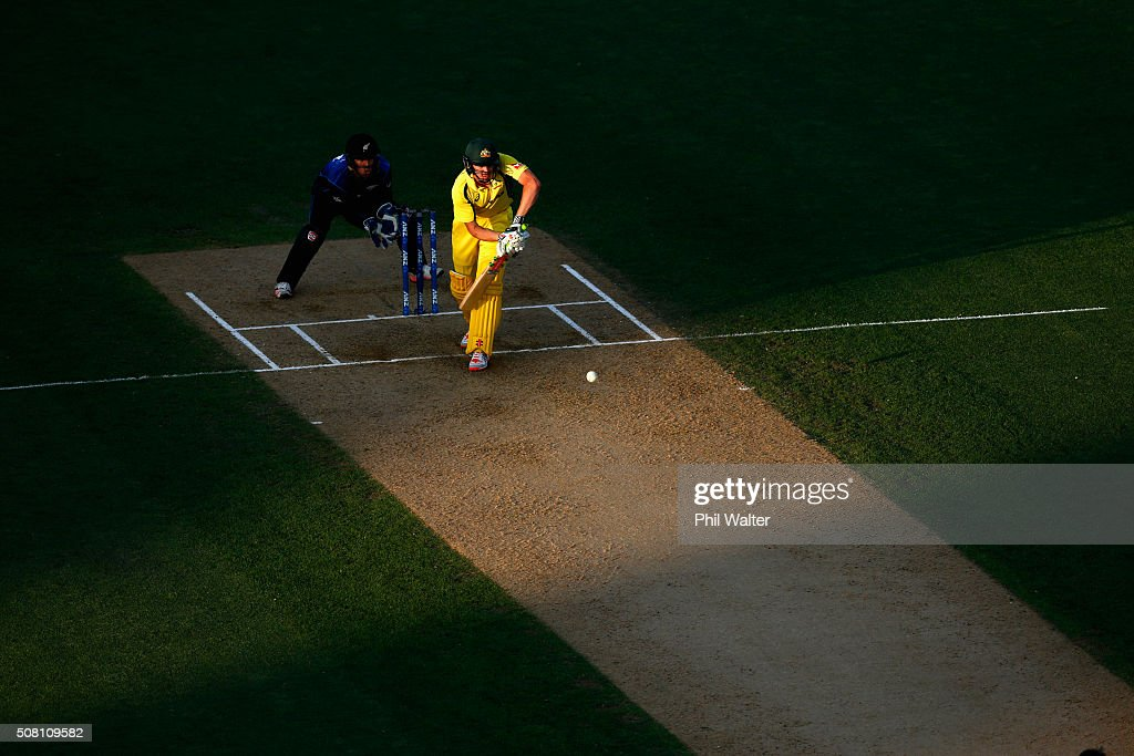 James Faulkner of Australia bats during the One Day International match between New Zealand and Australia at Eden Park on February 3, 2016 in Auckland, New Zealand.