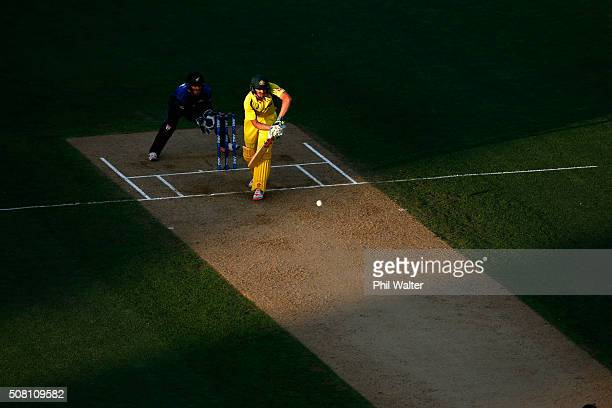 James Faulkner of Australia bats during the One Day International match between New Zealand and Australia at Eden Park on February 3 2016 in Auckland...
