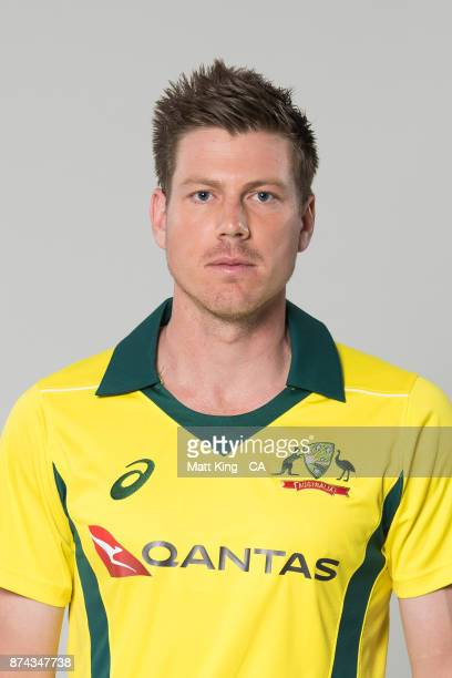 James Faulkner poses during the Australia One Day International Team Headshots Session at Intercontinental Double Bay on October 15 2017 in Sydney...