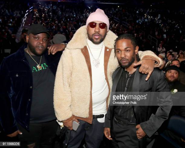 James Fauntleroy Mike WiLL MadeIt and Kendrick Lamar attend the 60th Annual GRAMMY Awards at Madison Square Garden on January 28 2018 in New York City