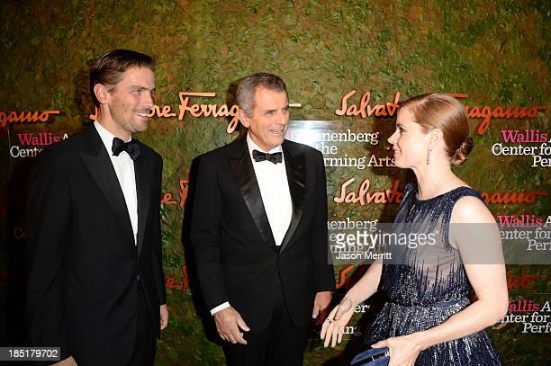 James Ferragamo Ferragamo CEO Ferruccio Ferragamo and actress Amy Adams arrive at the Wallis Annenberg Center for the Performing Arts Inaugural Gala...