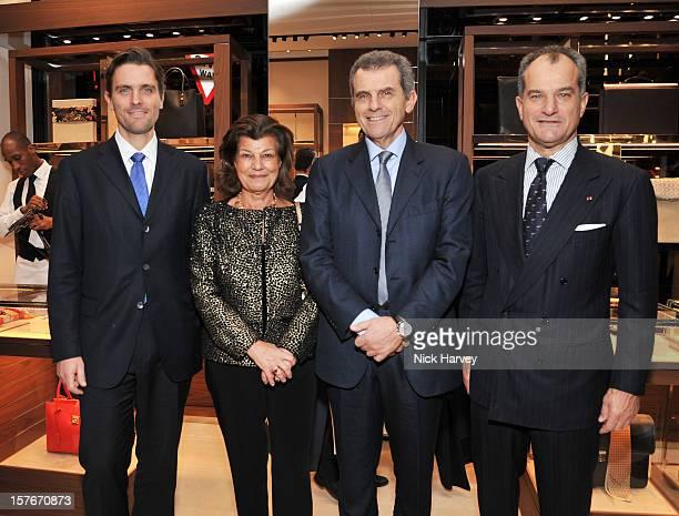 James Ferragamo, Fulvia Visconti Ferragamo, Ferruccio Ferragamo and Leonardo Ferragamo attend the flagship store launch of Salvatore Ferragamo's Old...