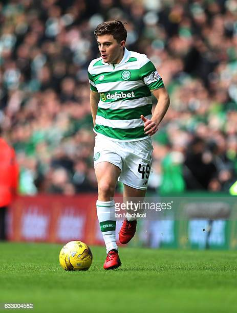 James Forrest of Celtic controls the ball during the Ladbrokes Scottish Premiership match between Celtic and Heart of Midlothian at Celtic Park...