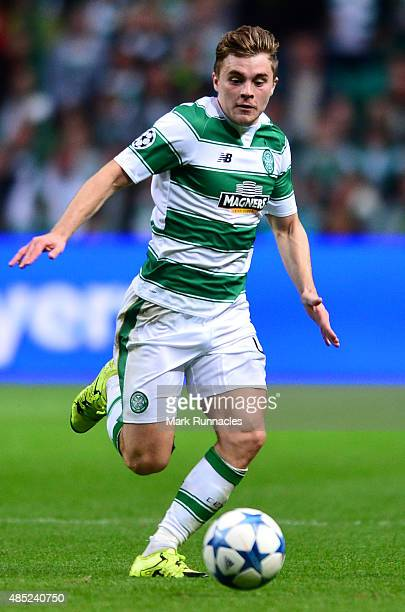 James Forrest of Celtic in action during the UEFA Champions League Qualifying play off first leg match between Celtic FC and Malmo FF at Celtic Park...