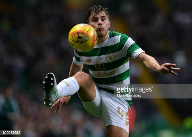 James Forrest of Celtic in action during the UEFA Champions League Qualifying Second Round Second Leg match between Celtic and Linfield at Celtic...