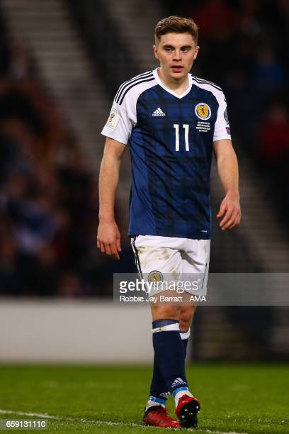 James Forrest of Scotland during the FIFA 2018 World Cup Qualifier between Scotland and Slovenia at Hampden Park on March 26 2017 in Glasgow Scotland