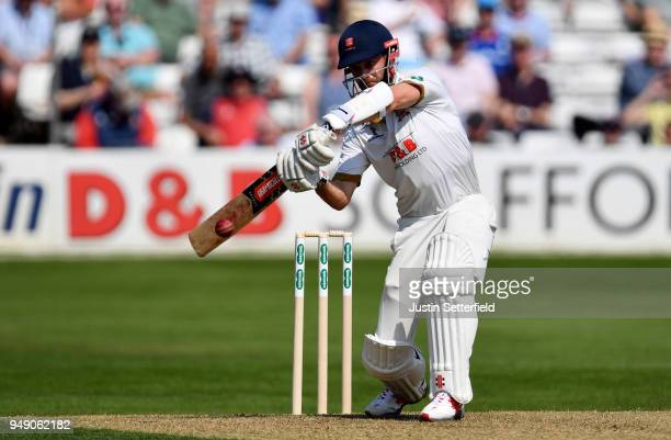 James Foster of Essex plays a shot during the Specsavers County Championship Division One match between Essex and Lancashire at Cloudfm County Ground...