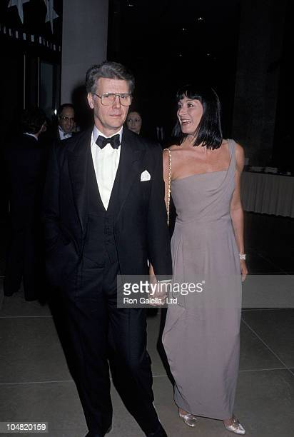James Fox and Anjelica Huston during AFI Achievement Awards Salute to David Lean at Beverly Hilton Hotel in Beverly Hills CA United States