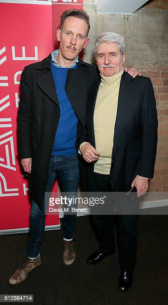 James Fox and Laurence Fox attend the press night performance of The Patriotic Traitor at the Park Theatre on February 25 2016 in London England