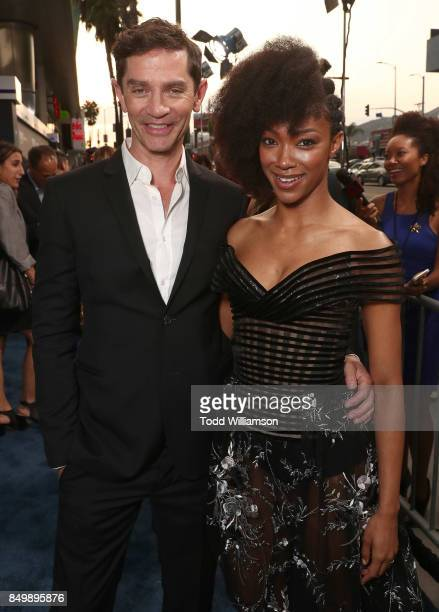 James Frain and Sonequa Martin attend the premiere of CBS's 'Star Trek Discovery' at The Cinerama Dome on September 19 2017 in Los Angeles California