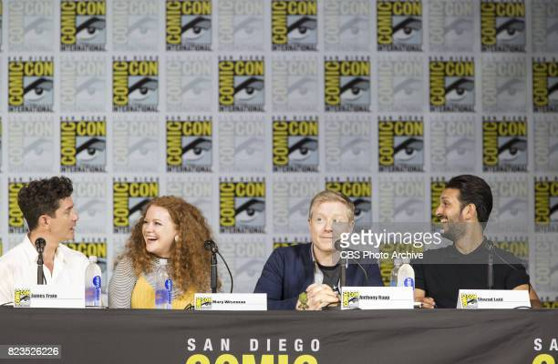 James Frain Mary Wiseman Anthony Rapp Shazad Latif during the 'Star Trek Discovery' panel at ComicCon 2017 held in San Diego Ca