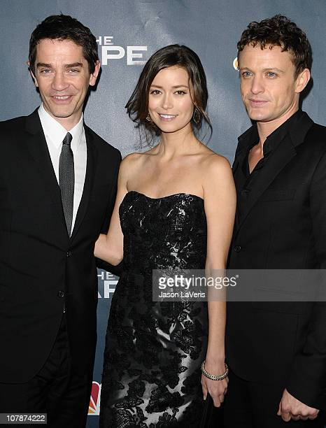 James Frain Summer Glau and David Lyons attend the premiere party for NBC's 'The Cape' at The Henry Fonda Theater on January 4 2011 in Hollywood...