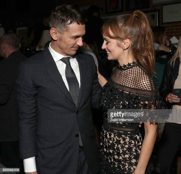 James Franco and Ahna O'Reilly attend the after party for the premiere of Momentum Pictures' 'In Dubious Battle' on February 15 2017 in Hollywood...