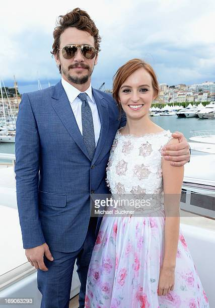 James Franco and Ahna O'Reilly attends The Art of Elysium Rabbit Bandini and Leon Max event for Ahna O'Reilly at Festival de Cannes during the 66th...