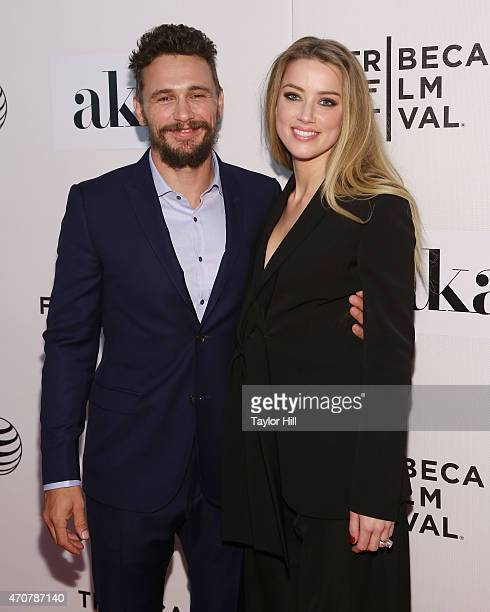 James Franco and Amber Heard attend the premiere of The Adderall Diaries at the 2015 Tribeca Film Festival at BMCC Tribeca PAC on April 16 2015 in...
