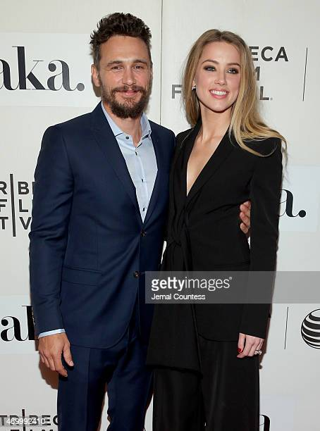 James Franco and Amber Heard attend the premiere of The Adderall Diaries during the 2015 Tribeca Film Festival at BMCC Tribeca PAC on April 16 2015...