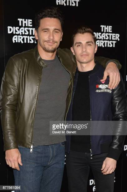 James Franco and Dave Franco attend a preview screening of 'The Disaster Artist' at the Picturehouse Central on November 22 2017 in London England