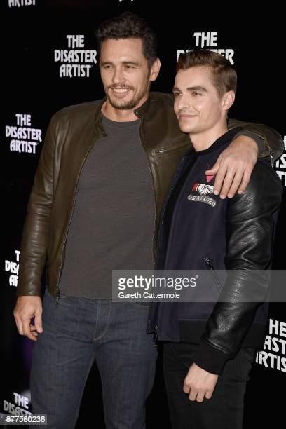 James Franco and Dave Franco attend a screening of The Disaster Artist at Picturehouse Central on November 22 2017 in London England