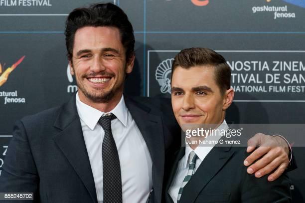 James Franco and Dave Franco attend 'The Disaster Artist' premiere during 65th San Sebastian Film Festival on September 28 2017 in San Sebastian Spain