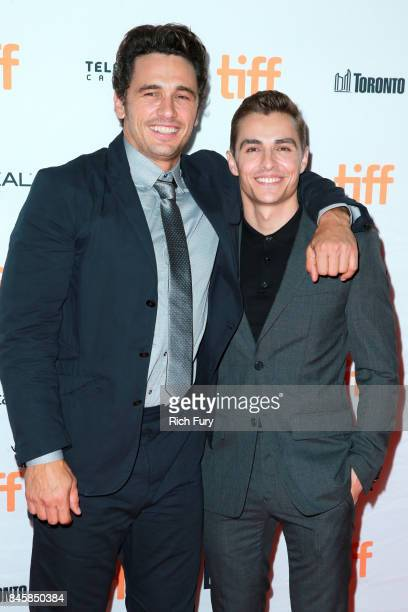 James Franco and Dave Franco attend 'The Disaster Artist' premiere during the 2017 Toronto International Film Festival at Ryerson Theatre on...