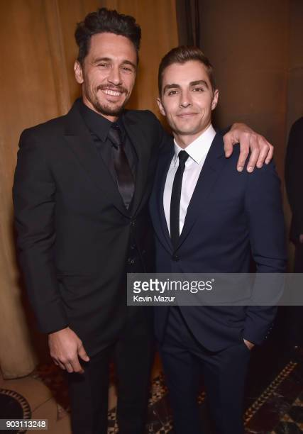 James Franco and Dave Franco attend the National Board of Review Annual Awards Gala at Cipriani 42nd Street on January 9 2018 in New York City