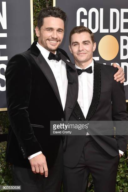 James Franco and David Franco attend the 75th Annual Golden Globe Awards Arrivals at The Beverly Hilton Hotel on January 7 2018 in Beverly Hills...