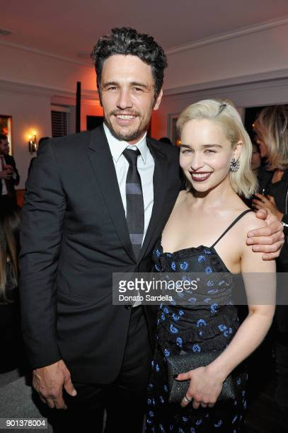 James Franco and Emilia Clarke attend W Magazine's Celebration of its 'Best Performances' Portfolio and the Golden Globes with Audi Dior and Dom...