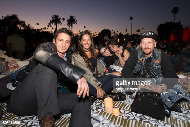 James Franco and friends attend Cinespia's screening of 'The Usual Suspects' held at Hollywood Forever on June 17 2017 in Hollywood California