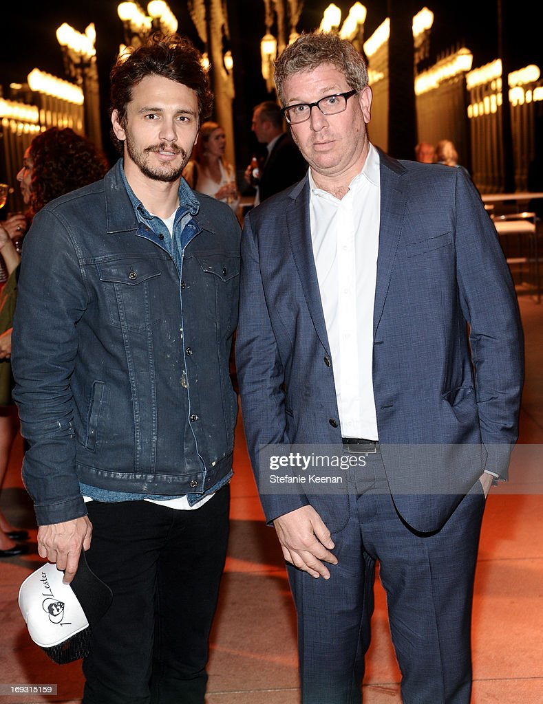 James Franco and Marc Glimcher attend LACMA Celebrates Opening Of James Turrell: A Retrospective at LACMA on May 22, 2013 in Los Angeles, California.