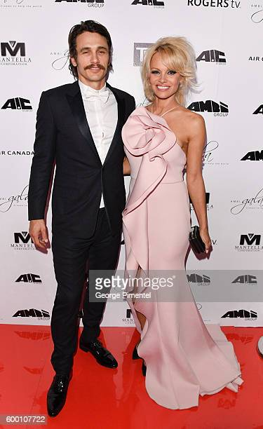James Franco and Pamela Anderson attend the 2016 Toronto International Film Festival 'AMBI Gala' at Ritz Carlton on September 7 2016 in Toronto Canada