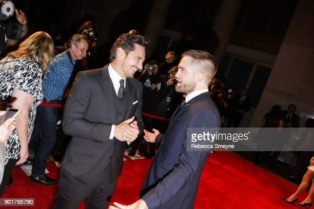 James Franco and Robert Pattinson attend the 2017 IFP Gotham Awards at Cipriani Wall Street on November 27 2017 in New York NY