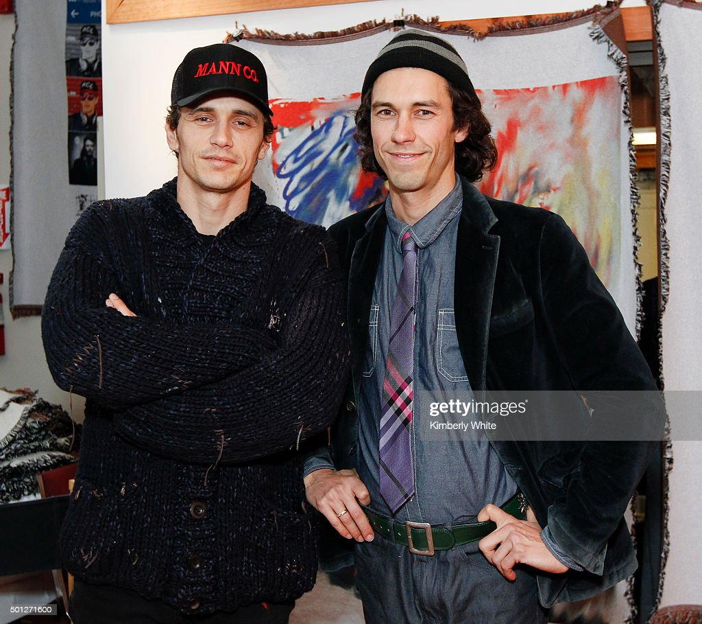 The Art of Elysium Hosts A Reception for Tom and James Franco's BRO-MANCE at the Firehouse Collective : News Photo