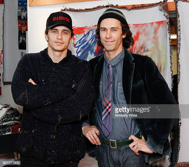 James Franco and Tom Franco at the Art of Elysium reception for Tom and James Franco's BROMANCE at the Firehouse Collective on December 13 2015 in...