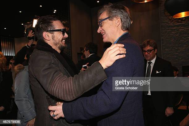 James Franco and Wim Wenders attend the AUDI Berlinale Brunch during the 65th Berlinale International Film Festival at AUDI Lounge on February 8 2015...