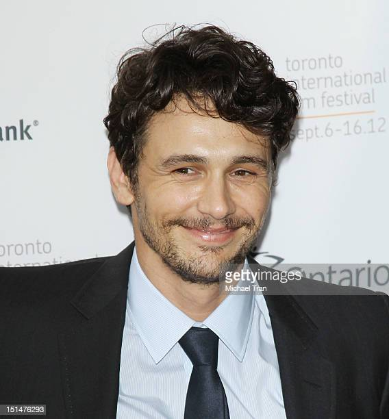 James Franco arrives at Spring Breakers premiere during the 2012 Toronto International Film Festival held at Ryerson Theatre on September 7 2012 in...