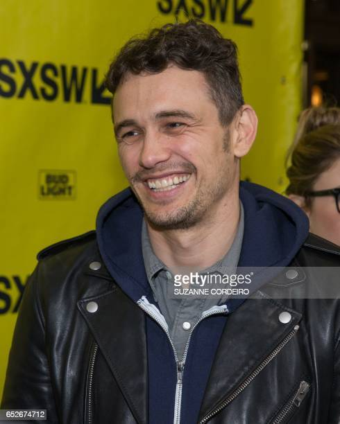 James Franco arrives for the premiere of the film The Disaster Artist during The South by Southwest Film Conference held at the Paramount Theater on...