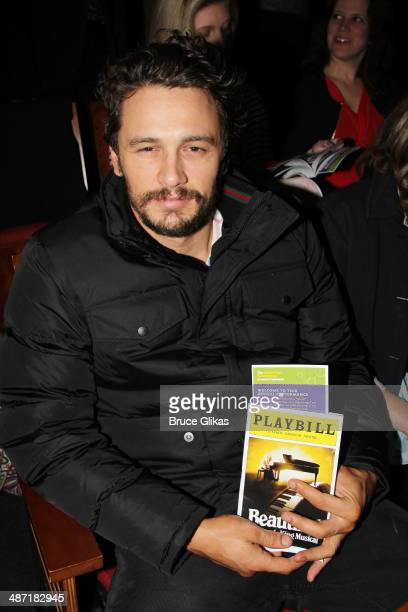 James Franco attends the Actors Fund Benefit Performance of 'Beautiful The Carole King Musical' at Stephen Sondheim Theatre on April 27 2014 in New...