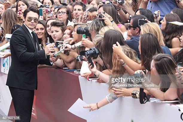 James Franco attends the premiere of movie Palo Alto presented during the 70th International Venice Film Festival