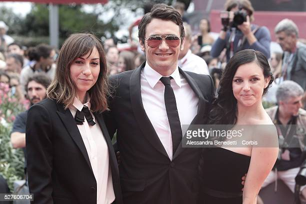 James Franco Claudia Levy and Gia Coppola attend the premiere of movie Palo Alto presented during the 70th International Venice Film Festival