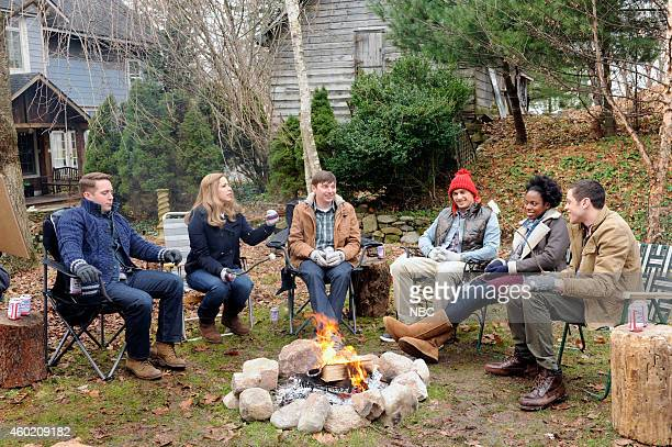 LIVE James Franco Episode 1670 Pictured Beck Bennett as Clint Vanessa Bayer Mike O'Brien as Trevor James Franco as Chad Sasheer Zamata and Pete...