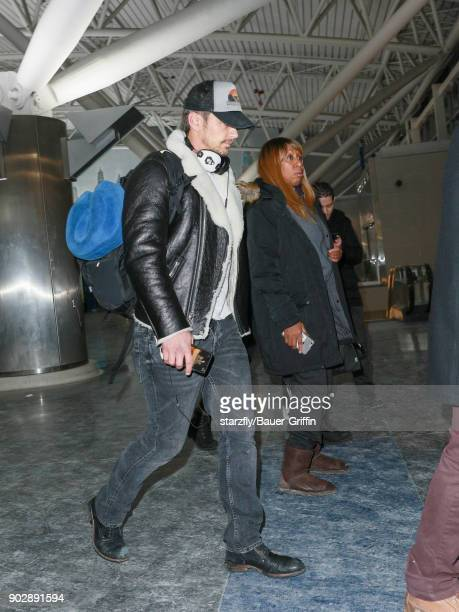 James Franco is seen at John F Kennedy International Airport on January 08 2018 in Los Angeles California