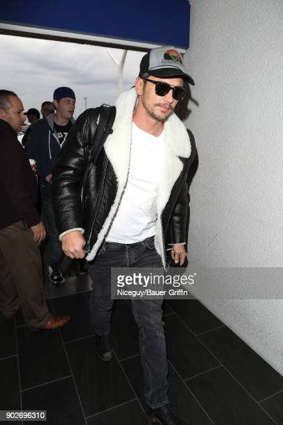 James Franco is seen at LAX on January 08 2018 in Los Angeles California