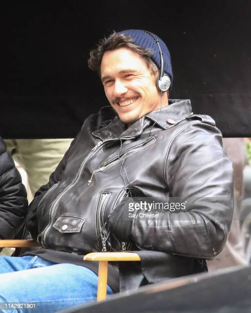 James Franco is seen filming 'The Deuce' on April 15 2019 in New York City