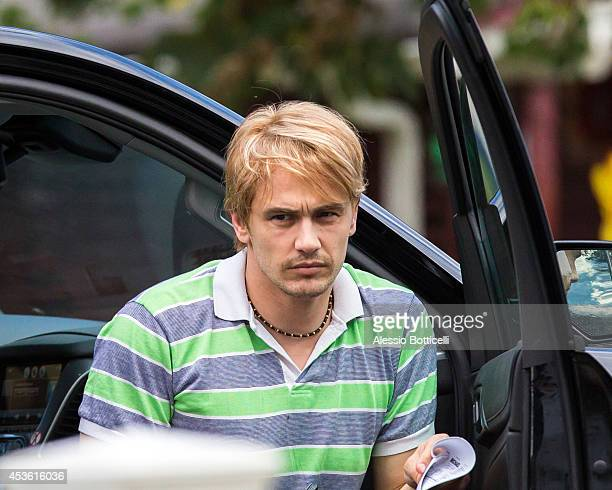 James Franco is seen in character on set of 'Michael' on August 14 2014 in Freeport New York