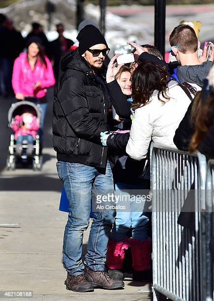 James Franco is seen on January 24 2015 in Park City Utah