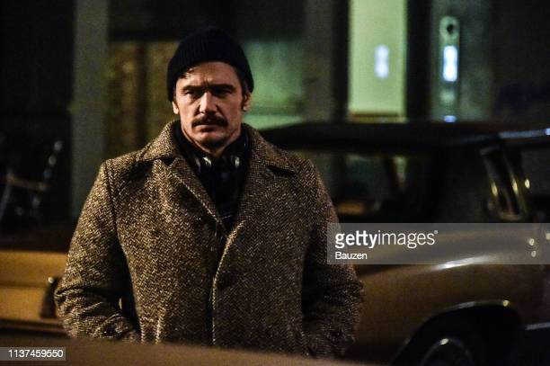James Franco is spotted filming The Deuce in SoHo on April 15 2019 in New York City