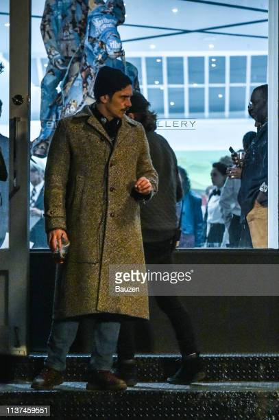 James Franco is spotted filming The Deuce in SoHo on April 15, 2019 in New York City.