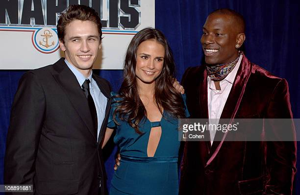 James Franco Jordana Brewster and Tyrese Gibson during Touchstone Pictures' Annapolis World Premiere Red Carpet at El Capitan Theatre in Hollywood...