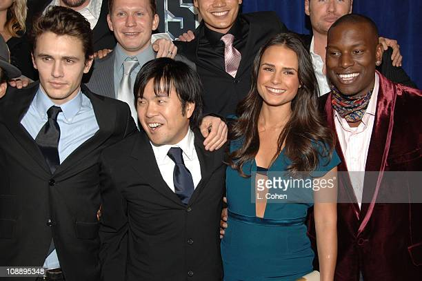 James Franco Justin Lin director of Annapolis Jordana Brewster and Tyrese Gibson